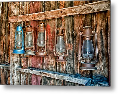 Lanterns Metal Print by Cat Connor