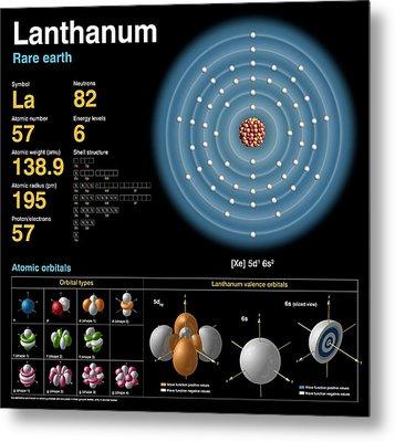 Lanthanum Metal Print by Carlos Clarivan