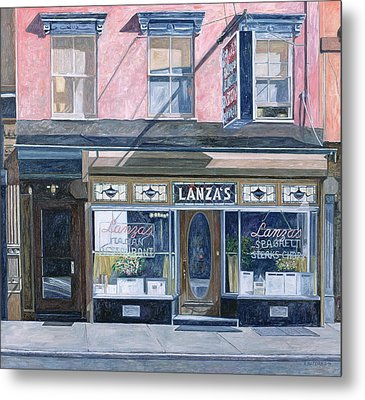 Lanza's Restaurant 11th Street East Village Metal Print by Anthony Butera