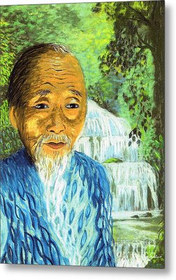 Lao Tzu Metal Print by Jane Small