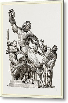 Laocoon In-thecoils Of Snakes Metal Print by Litz Collection