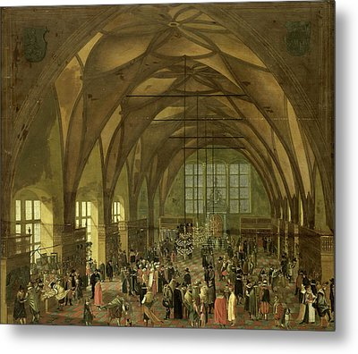 Large Hall In The Prague Hradschin Castle Metal Print by Litz Collection