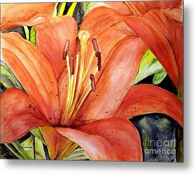 Large Orange Lily Metal Print