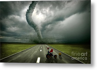 Large Tornado Metal Print by Boon Mee