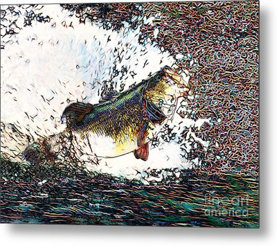Largemouth Bass P180 Metal Print by Wingsdomain Art and Photography