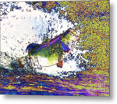 Largemouth Bass P68 Metal Print by Wingsdomain Art and Photography