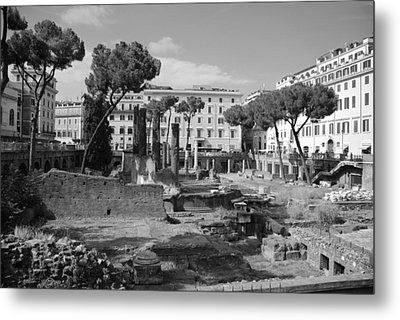 Metal Print featuring the photograph Largo Di Torre - Roma by Dany Lison