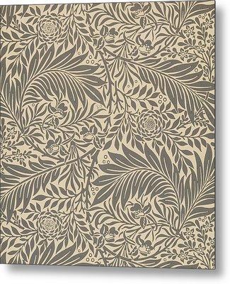 Larkspur Wallpaper Design Metal Print by William Morris