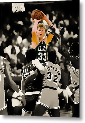 Larry Bird Metal Print by Brian Reaves