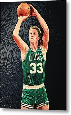 Larry Bird Metal Print by Taylan Apukovska