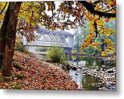 Larwood Covered Bridge Metal Print by Ansel Price
