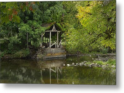 Larwood Covered Bridge Park Metal Print