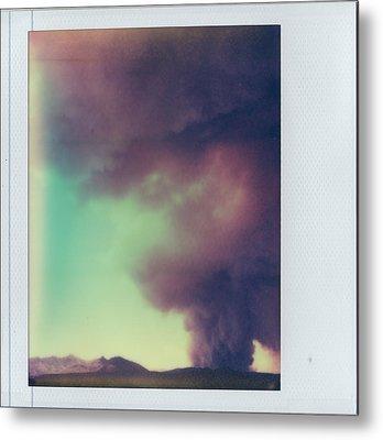 Las Conchas Fire On Instant Film Metal Print