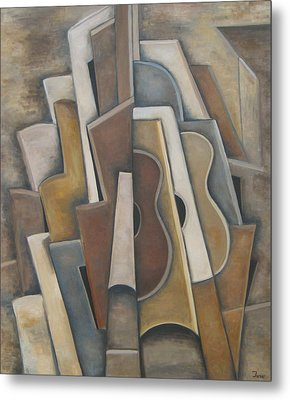 Las Guitarras Metal Print by Trish Toro