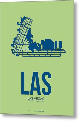 Las Las Vegas Airport Poster 2 Metal Print by Naxart Studio