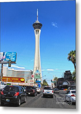 Las Vegas - Stratosphere Metal Print by Gregory Dyer