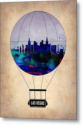 Las Vegas Air Balloon Metal Print by Naxart Studio