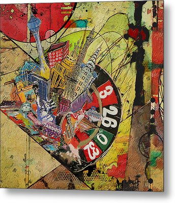 Las Vegas Collage Metal Print by Corporate Art Task Force