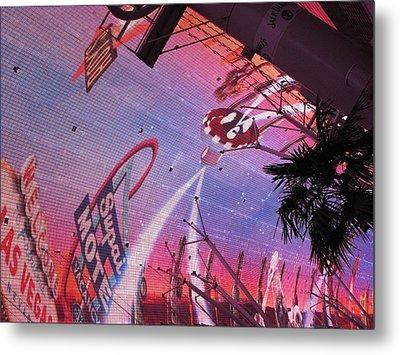Las Vegas - Fremont Street Experience - 121212 Metal Print by DC Photographer
