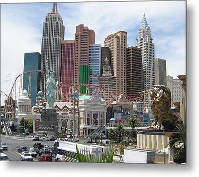 Las Vegas - New York New York Casino - 12121 Metal Print by DC Photographer