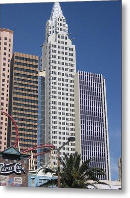 Las Vegas - New York New York Casino - 12125 Metal Print by DC Photographer