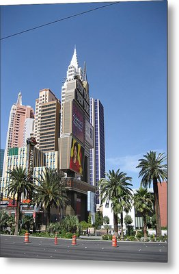 Las Vegas - New York New York Casino - 12126 Metal Print by DC Photographer