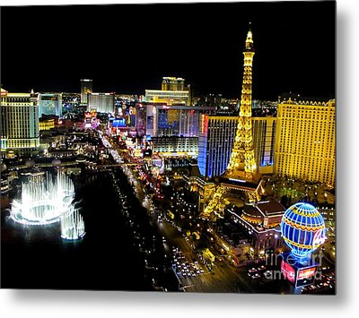 Las Vegas Night Life Metal Print by Kip Krause