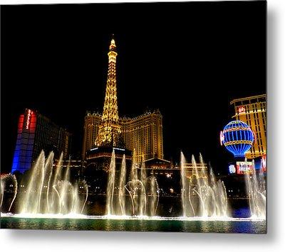 Las Vegas - Paris Hotel And Casino 001 Metal Print