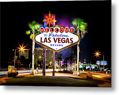 Las Vegas Sign Metal Print by Az Jackson