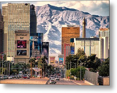 Metal Print featuring the photograph Las Vegas Nevada by Michael Rogers