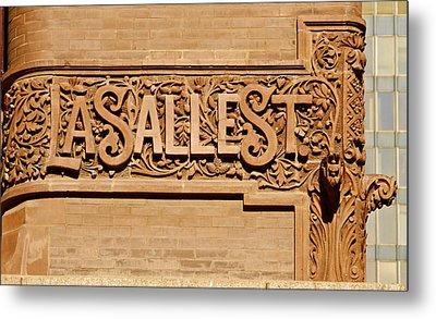 Lasalle Street Sign Metal Print by John Babis