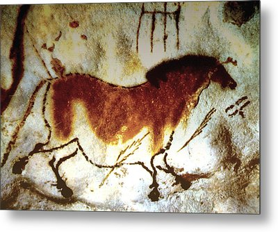 Lascaux Horse - Version 2 Metal Print by Asok Mukhopadhyay