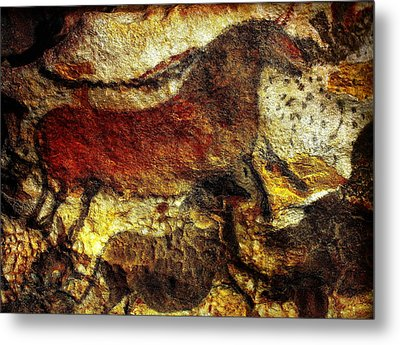 Metal Print featuring the photograph Lascaux II No. 1 - Horizontal by Jacqueline M Lewis