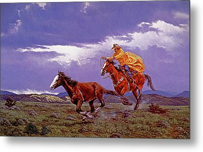 Last Dash For Freedom Metal Print by Randy Follis