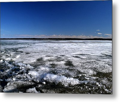 Last Day Of Ice On The Lake 3 Metal Print by Lyle Crump