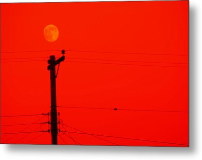 Red Moon Rising Metal Print by See My  Photos