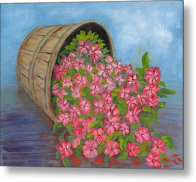 Metal Print featuring the painting Last Flowers Of Summer by Sharon Schultz