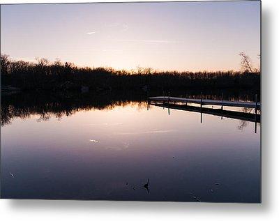 Last Light At Cleveland Pond Metal Print