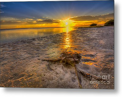 Last Light Over The Gulf Metal Print