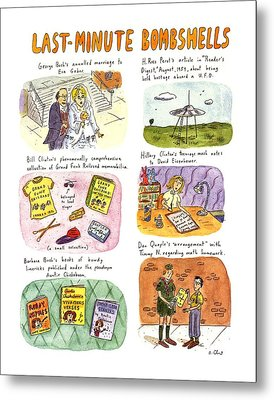 Last-minute Bombshells Metal Print by Roz Chast