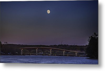 Metal Print featuring the photograph Last Moon Rise by David Hufstader