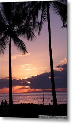 Last Of The Sun On Maui Metal Print