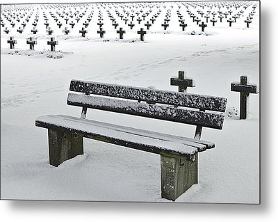 Last Resting Place Of Snowflakes Metal Print by Dirk Ercken
