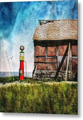 Last Stop Texaco Metal Print by Bob Orsillo