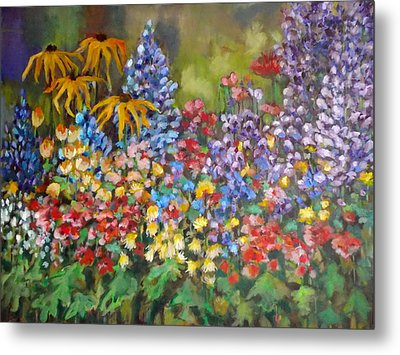 Last Summer's Flowers Metal Print by Irena Mohr