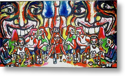 Last Supper Party The Present Vulgarity Metal Print