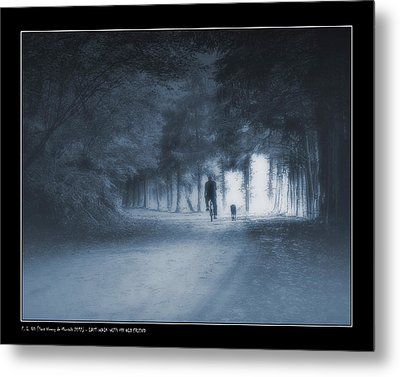 Last Walk With My Old Friend Metal Print