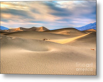 Late Afternoon At The Mesquite Dunes Metal Print