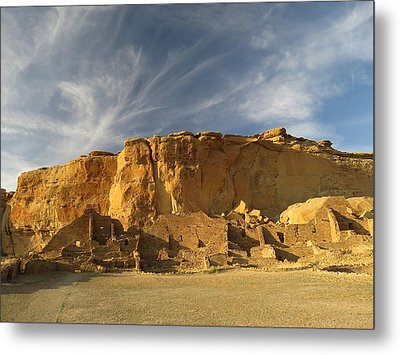 Late Afternoon In Pueblo Bonito Metal Print by Feva  Fotos