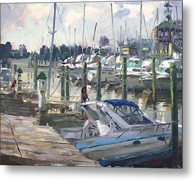 Late Afternoon In Virginia Harbor Metal Print by Ylli Haruni